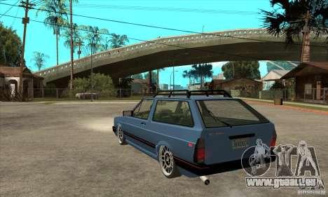 VW Fox 1989 v.2.0 für GTA San Andreas zurück linke Ansicht