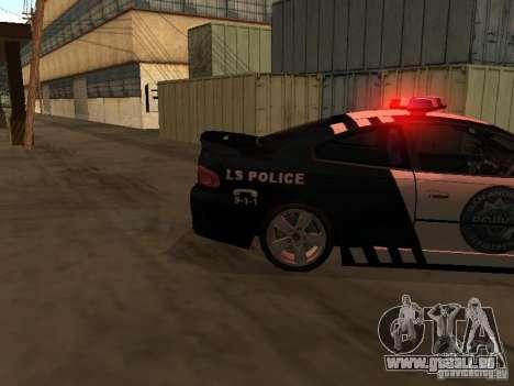 Pontiac GTO Police für GTA San Andreas zurück linke Ansicht