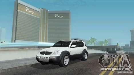 SsangYong Rexton 2005 pour GTA San Andreas moteur