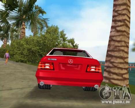 Mercedes-Benz SL600 1999 pour une vue GTA Vice City de la droite