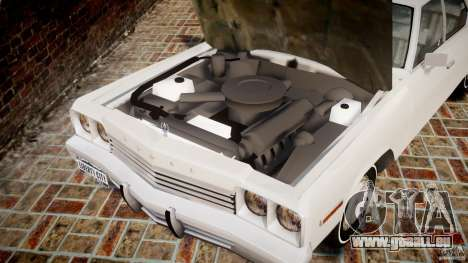 Dodge Monaco 1974 für GTA 4 Innenansicht