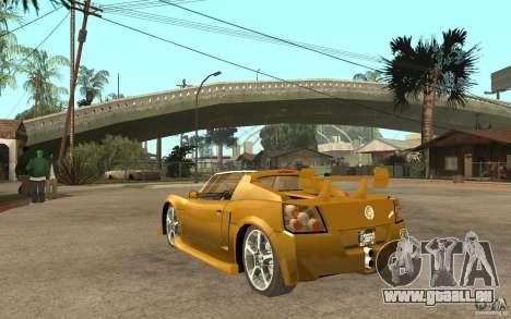 Opel Speedster für GTA San Andreas zurück linke Ansicht