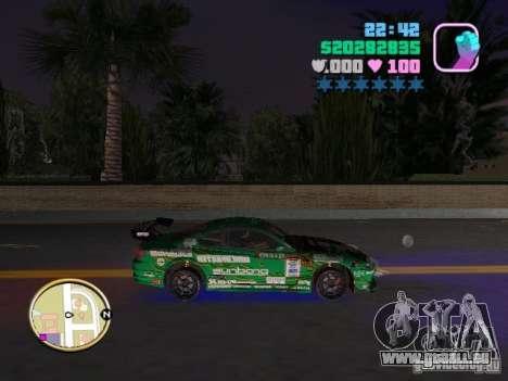 Nissan Silvia S15 Kei Office D1GP pour une vue GTA Vice City de la droite