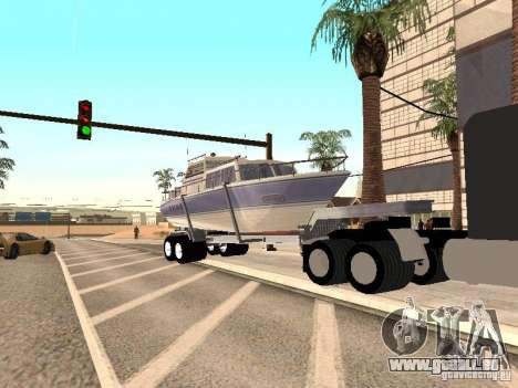 Boat Trailer pour GTA San Andreas vue de droite
