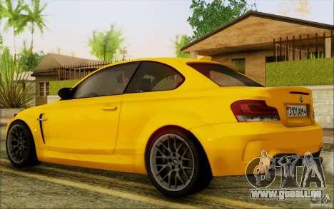 BMW 1M Coupe pour GTA San Andreas vue de droite