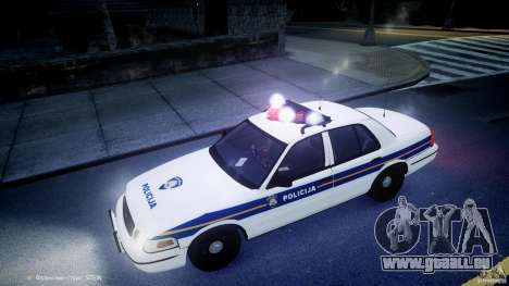 Ford Crown Victoria Croatian Police Unit pour GTA 4 Salon