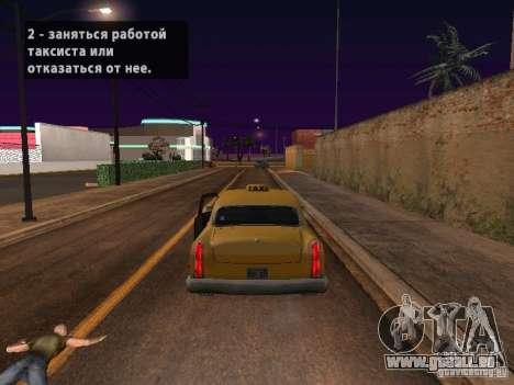 Moto saut dans ma voiture pour GTA San Andreas quatrième écran
