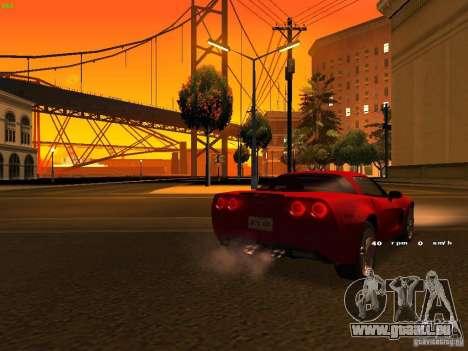 Chevrolet Corvette Z06 pour GTA San Andreas vue de dessous