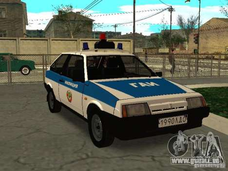VAZ 2108 Police pour GTA San Andreas