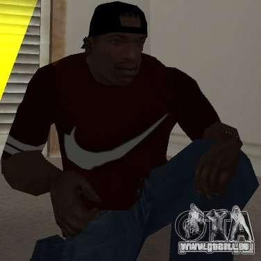 Nike t-shirt für GTA San Andreas