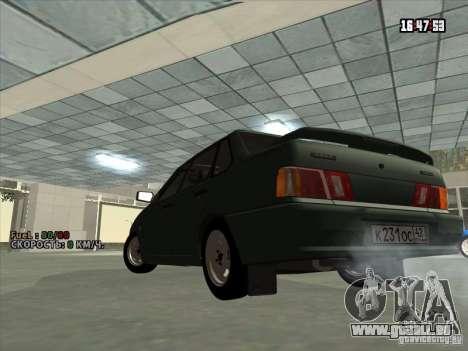 VAZ 2115 Drain pour GTA San Andreas sur la vue arrière gauche