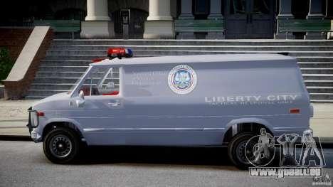 Chevrolet G20 Police Van [ELS] für GTA 4 linke Ansicht