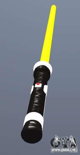 Lightsabre v2 Yellow für GTA San Andreas