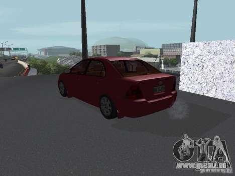 Toyota Corolla Sedan für GTA San Andreas zurück linke Ansicht