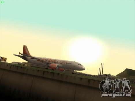 Airbus A320-214 EasyJet pour GTA San Andreas laissé vue
