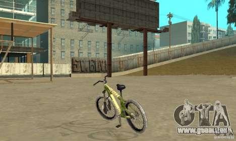 Hardy 3 Dirt Bike pour GTA San Andreas sur la vue arrière gauche