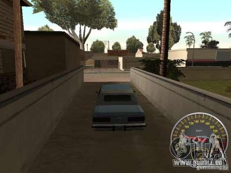 Compteur de vitesse Lamborghini pour GTA San Andreas deuxième écran