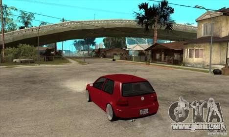 VW Golf 4 V6 Bolf pour GTA San Andreas sur la vue arrière gauche