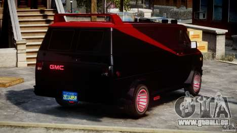 GMC Van G-15 1983 The A-Team für GTA 4 Innen