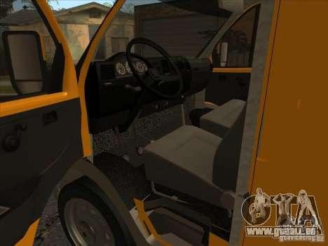 GAZ 22171 Sable pour GTA San Andreas vue de droite