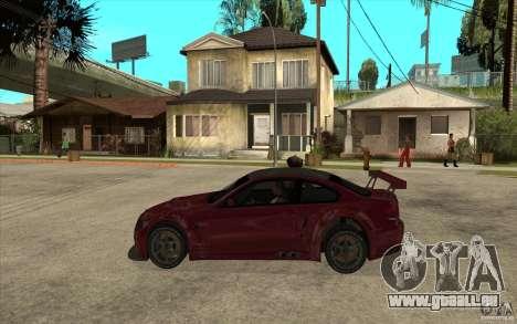 BMW M3 2009 pour GTA San Andreas laissé vue
