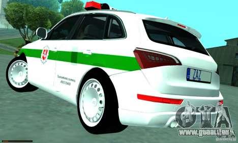 Audi Q5 TDi - Policija für GTA San Andreas linke Ansicht