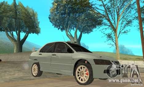 Mitsubishi Lancer Evolution IX für GTA San Andreas Seitenansicht