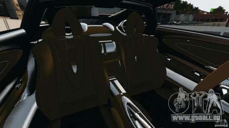 Pagani Huayra 2011 v1.0 [EPM] pour GTA 4 est une vue de l'intérieur