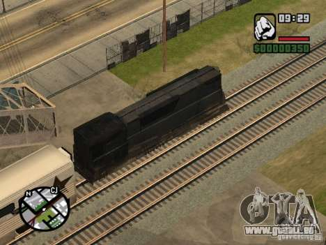 Verbinden Sie Zug aus dem Spiel Half-Life 2 für GTA San Andreas Seitenansicht