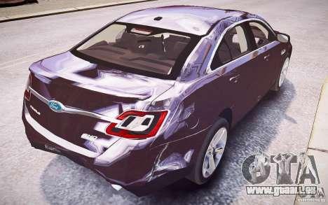 Ford Taurus SHO 2010 pour GTA 4 roues