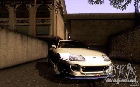 Toyota Supra D1 1998 pour GTA San Andreas vue de dessus