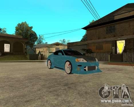 Hyundai Tibuton V6 GT pour GTA San Andreas vue arrière