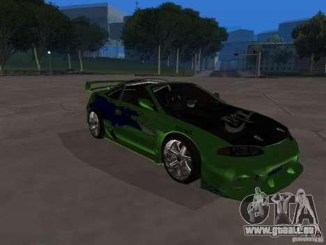 Mitsubishi Eclipse Tunable pour GTA San Andreas vue intérieure