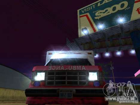 Ambulance 1987 San Andreas pour GTA San Andreas vue intérieure