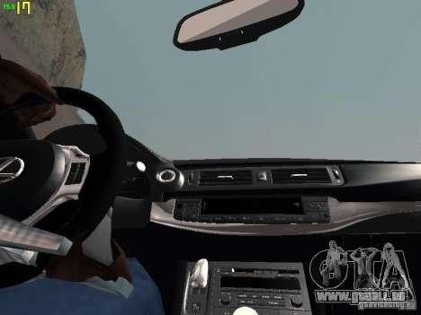 Lexus CT200H Japanese Police für GTA San Andreas obere Ansicht