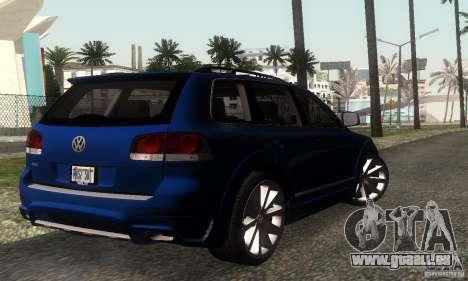 VolksWagen Touareg R50 JE Design Tuning für GTA San Andreas zurück linke Ansicht