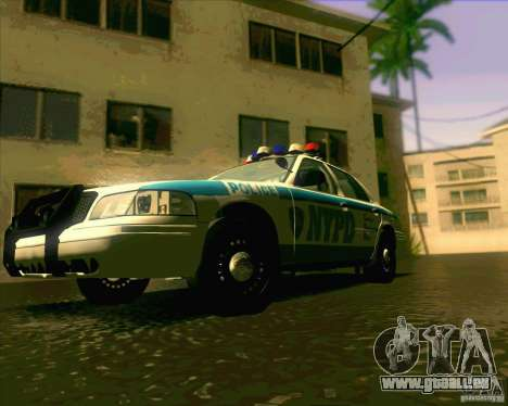 Ford Crown Victoria 2003 NYPD police V2.0 pour GTA San Andreas vue de droite