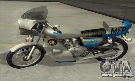 Kawasaki KZ1000 MFP für GTA San Andreas Rückansicht
