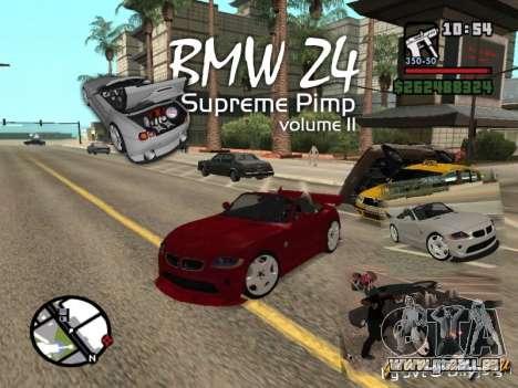 BMW Z4 Supreme Pimp TUNING volume II pour GTA San Andreas