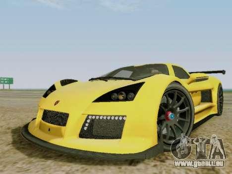 Gumpert Apollo S 2012 pour GTA San Andreas laissé vue