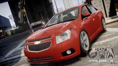 Chevrolet Cruze pour GTA 4 est une vue de l'intérieur