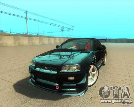Nissan Skyline GT-R R34 M-Spec Nur pour GTA San Andreas moteur