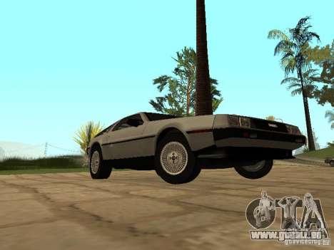 DeLorean DMC-12 1982 für GTA San Andreas rechten Ansicht