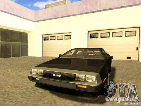 DeLorean DMC-12 V8 pour GTA San Andreas vue intérieure