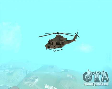 UH-1 Iroquois pour GTA San Andreas vue arrière