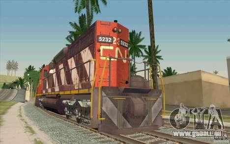 CN SD40 ZEBRA STRIPES für GTA San Andreas zurück linke Ansicht