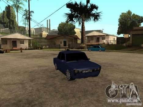 VAZ 2106 coupé pour GTA San Andreas sur la vue arrière gauche