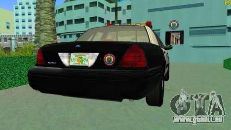 Ford Crown Victoria Police 2003 pour une vue GTA Vice City de la gauche
