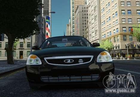 VAZ Lada 2170 Priora pour GTA 4 est une vue de l'intérieur