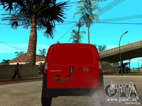 Fiat Fiorino Combi pour GTA San Andreas sur la vue arrière gauche